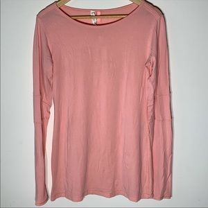 Lululemon Light Pink Long-Sleeve Tee Shirt